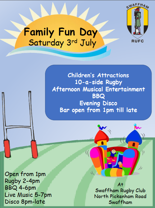 Save the Date! Sat. 3rd July -Family Fun Day